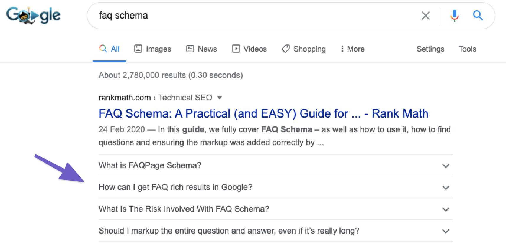 FAQ Schema 示例