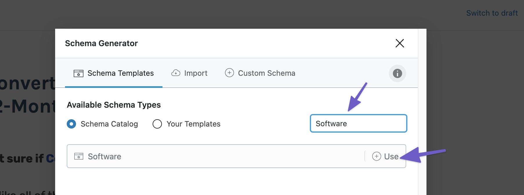Software Schema软件结构化类型